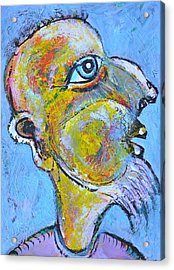 Caricature Of A Wise Man Acrylic Print by Ion vincent DAnu