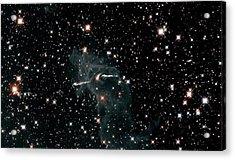 Carina Nebula Pillar Acrylic Print by Nasa/esa/stsci/hubble Sm4 Ero Team