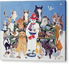 Caring Oil On Canvas Acrylic Print