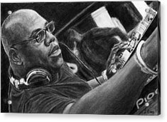 Carl Cox Pencil Drawing Acrylic Print