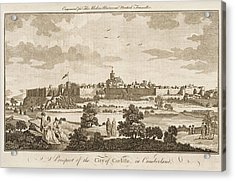 Carlisle, Cumbria, England     Date 1779 Acrylic Print by Mary Evans Picture Library