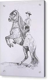 Carlos On Pensador Acrylic Print by Janina  Suuronen