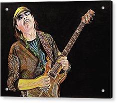 Carlos Santana Acrylic Print by Chris Benice