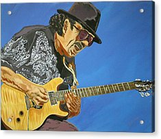 Carlos Santana-magical Musica Acrylic Print by Bill Manson