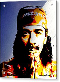 Carlos Santana. Acrylic Print