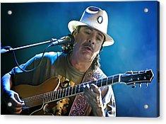 Carlos Santana On Guitar 3 Acrylic Print by Jennifer Rondinelli Reilly - Fine Art Photography