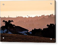 Acrylic Print featuring the digital art Carlsbad Sunset by Kirt Tisdale