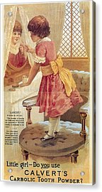 Carlvert's Carbolic Tooth Powder Ad Acrylic Print by Gianfranco Weiss