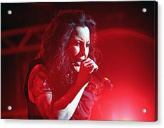 Carly And The Concert Lighting Acrylic Print by Shoal Hollingsworth