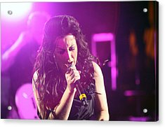 Carly On Stage Acrylic Print by Shoal Hollingsworth