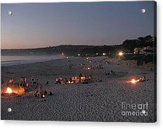 Carmel Beach Bonfires Acrylic Print