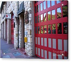 Carmel By The Sea Fire Station Acrylic Print by James B Toy
