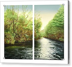 Carmel River Mid-watershed Acrylic Print by Logan Parsons
