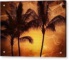 Carmel Sunset Acrylic Print by Athala Carole Bruckner