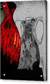 Carmellas Red Vase 2 Acrylic Print