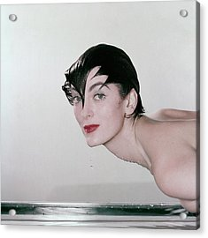 Carmen Dell'orefice Demonstrating Waterproof Acrylic Print by John Rawlings