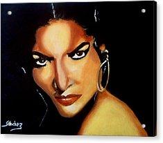 Carmen - Original Painting  Acrylic Print by Manuel Sanchez