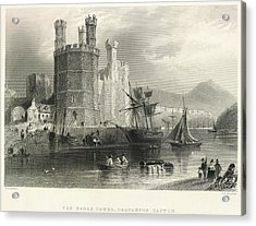 Carnarvon Castle Acrylic Print by British Library