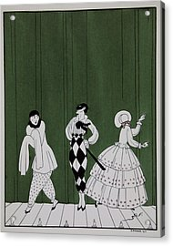 Carnaval Acrylic Print by Georges Barbier