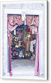 Acrylic Print featuring the digital art Carnevale Shop In Venice Italy by Victoria Harrington