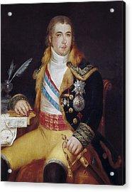 Carnicero, Antonio 1748-1814. Portrait Acrylic Print