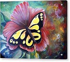 Carnival Butterfly Acrylic Print