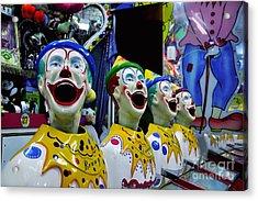 Carnival Clowns Acrylic Print