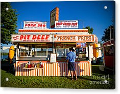 Carnival Concession Stand Acrylic Print by Amy Cicconi