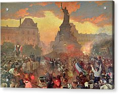 Carnival In Paris In Honour Of The Russian Navy, 5th October 1893, 1900 Oil On Canvas Acrylic Print