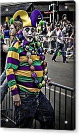 Carnival Jester Acrylic Print by Ray Devlin