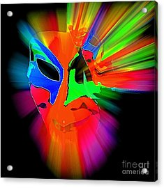 Carnival Mask In Abstract Acrylic Print