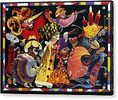 Carnival Acrylic Print by Nekoda  Singer