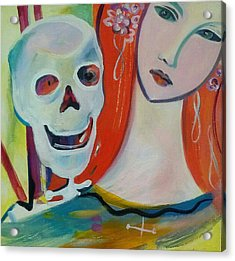 Carnival Of Bones Acrylic Print by Marlene LAbbe