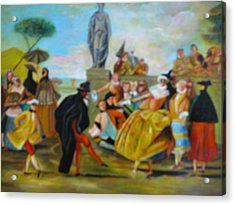 Acrylic Print featuring the painting Carnival Of Venice by Egidio Graziani