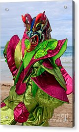 Carnival On The Beach Acrylic Print by Karen Lee Ensley