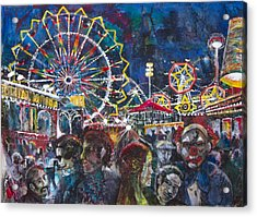 Carnival Acrylic Print by Patricia Allingham Carlson