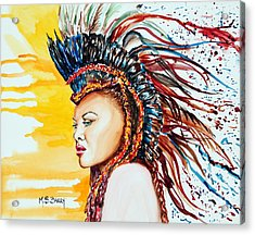 Carnival Queen Acrylic Print by Maria Barry
