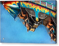 Carnival - Ride - The Thrill Of The Carnival  Acrylic Print by Mike Savad