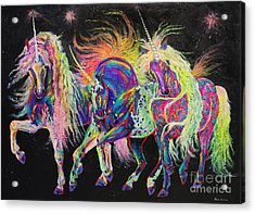 Carnivale Acrylic Print by Louise Green