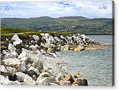 Carnlough Bay Antrim Northern Ireland Acrylic Print by Jane McIlroy