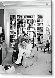 Carol Channing With Her Son Channing Lowe Acrylic Print