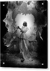 Carole Lombard On A Movie Set Acrylic Print