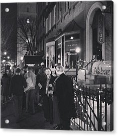 Acrylic Print featuring the photograph Carolers On North Charles Street December 2013 by Toni Martsoukos