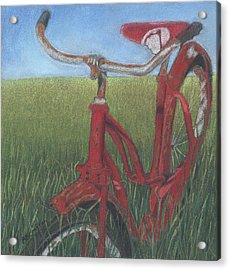Acrylic Print featuring the drawing Carole's Bike by Arlene Crafton