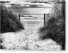 Carolina Beach Entry Acrylic Print by John Rizzuto