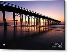 North Carolina Beach Pier - Sunrise Acrylic Print
