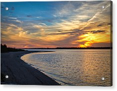 Carolina Beach River Sunset II Acrylic Print