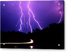 Carolina Electrical Storm Acrylic Print by Mike McGlothlen