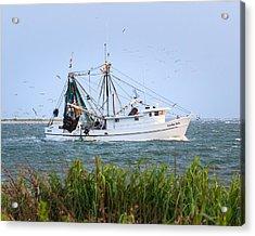 Carolina Girls Shrimp Boat Acrylic Print
