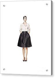Carolina Herrera Classic Look Acrylic Print by Jazmin Angeles